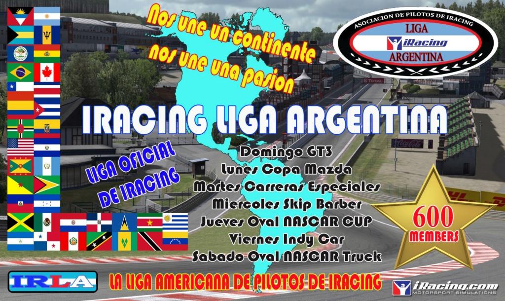 IRacing Liga Argentina es una Liga OFICIAL de IRacing