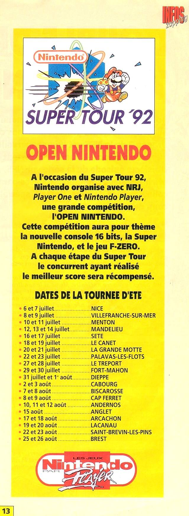 Nintendo Super Tour 92 à 96 11741110