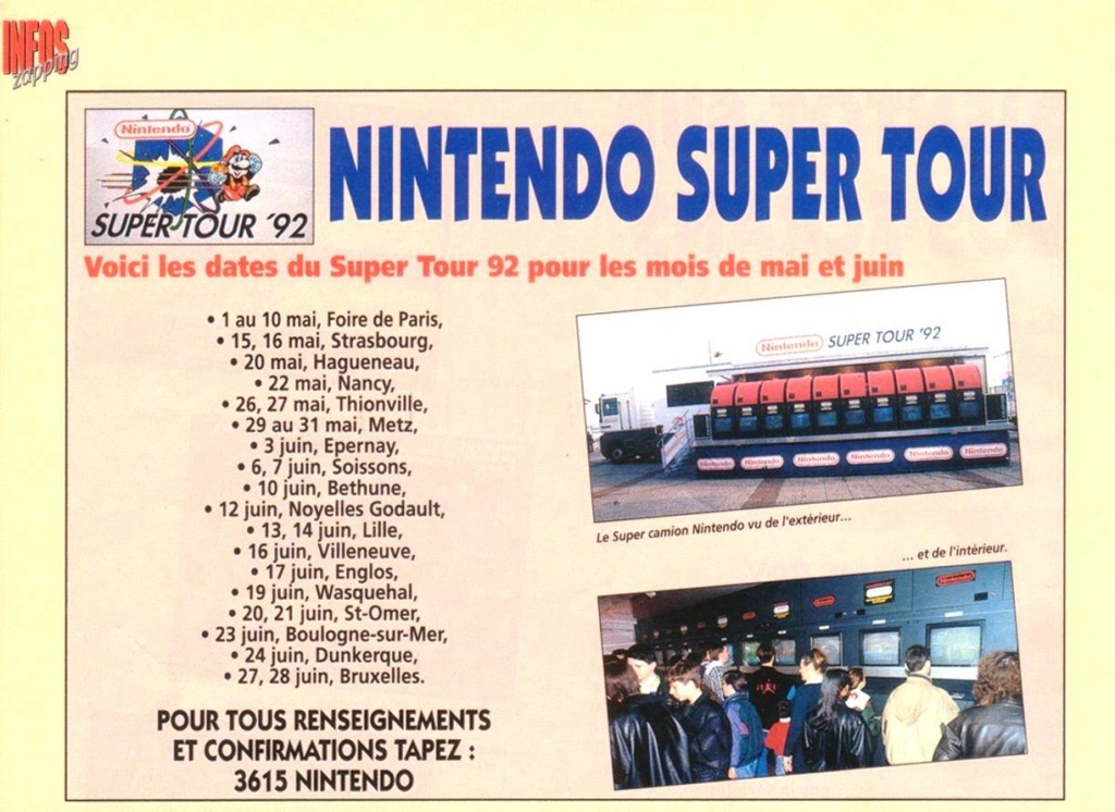 Nintendo Super Tour 92 à 96 11816110