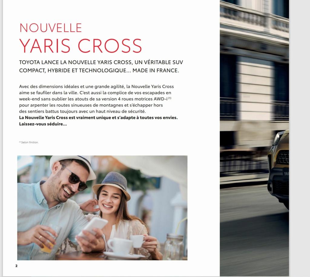 Voici la Pré Brochure française de la Yaris Cross !!! Brochu10