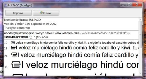 Letras Bultaqueras Font10