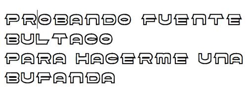Letras Bultaqueras Font11