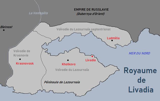 Carte générale et aministrative du Royaume de Livadia (1915) Ancien10