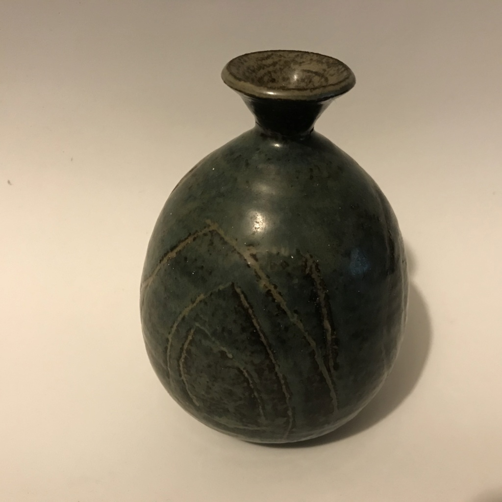 Signed Claremont art pottery glazed vase 1955 Img_0111