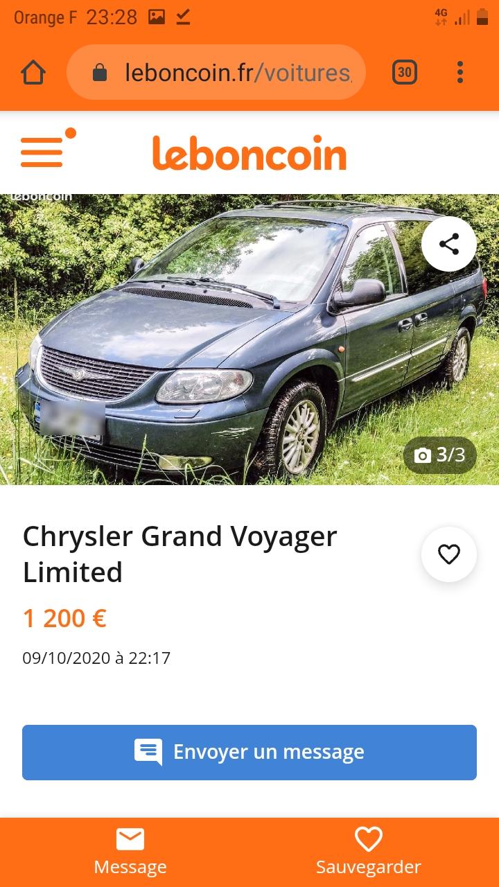 Le Grand Voyager Limited S4 2,5 L CRD 2003 de Gillesbd47 Screen18