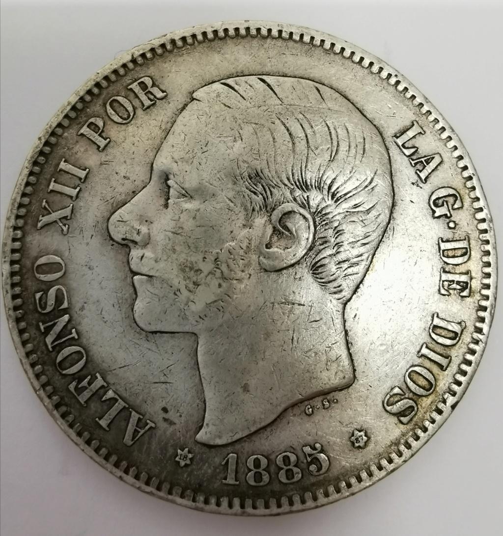 5 Pesetas Alfonso XII - 1885 *18*87 Img_2041