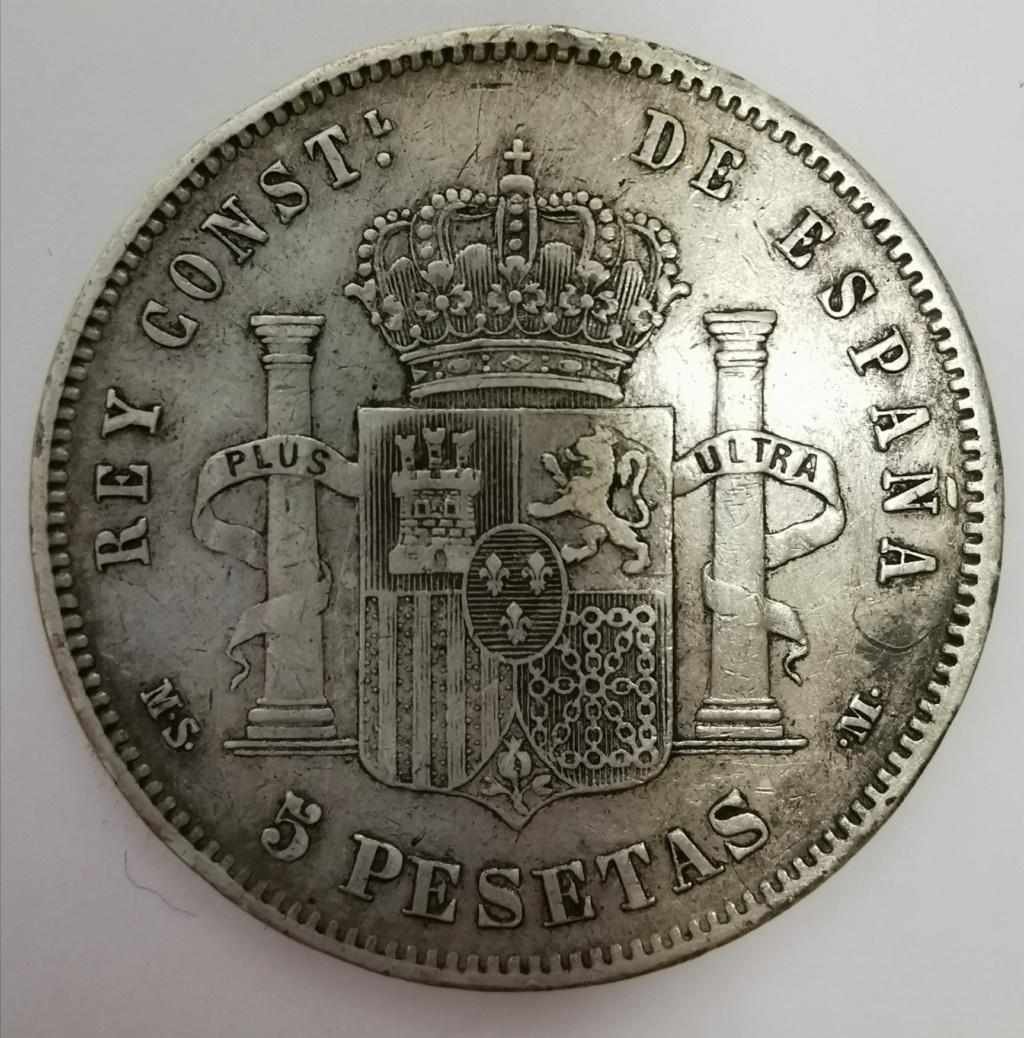 5 Pesetas Alfonso XII - 1885 *18*87 Img_2042
