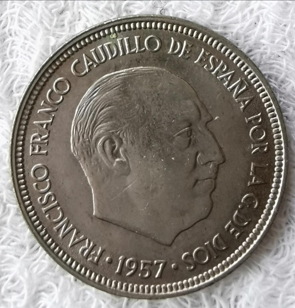 5 Pesetas 1957 Estado Español, serie BA Img_2164