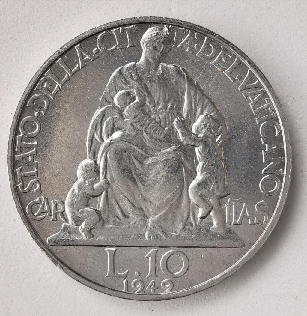 10 Liras Pio XII 1949 Ciudad del Vaticano Img_2256