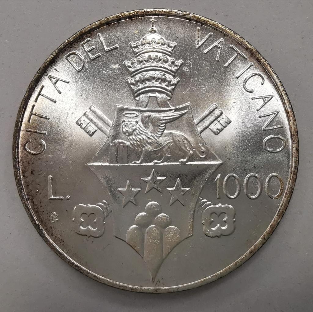1000 Liras Ciudad del Vaticano Juan Pablo I 1978 Img_2262