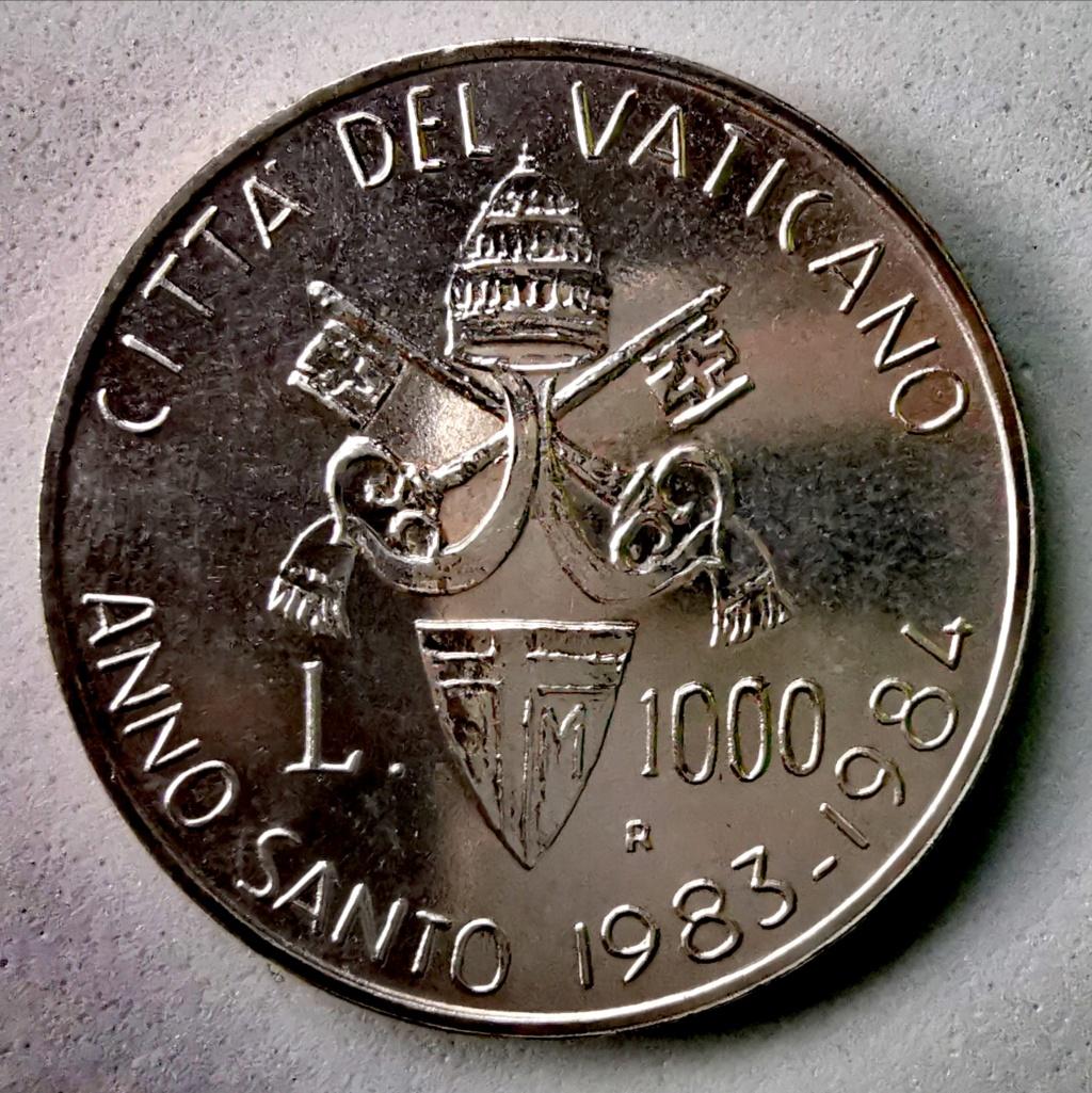 1000 Liras Ciudad del Vaticano Juan Pablo II, 1983 Img_2269