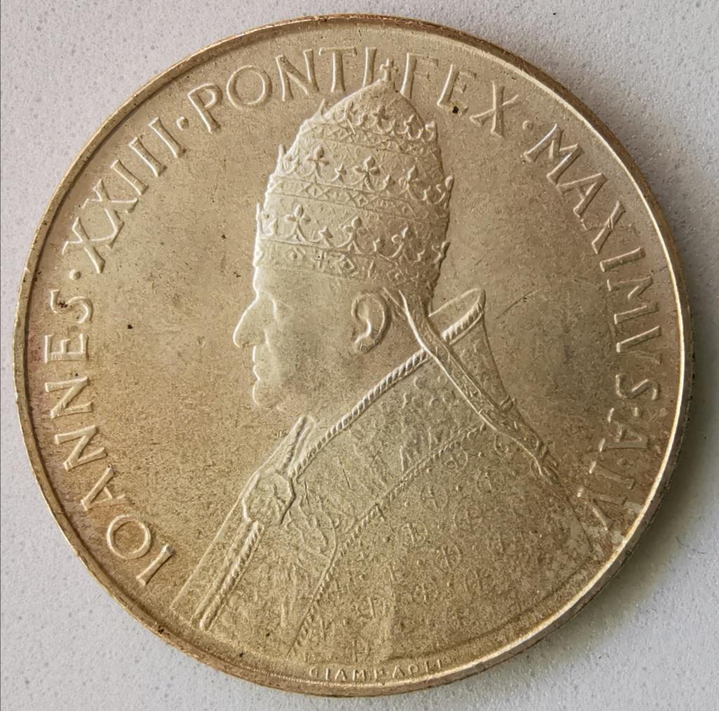 500 Liras Ciudad del Vaticano Juan XXIII, 1962 Img_2284