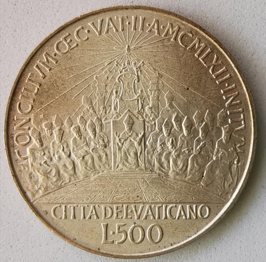 500 Liras Ciudad del Vaticano Juan XXIII, 1962 Img_2285