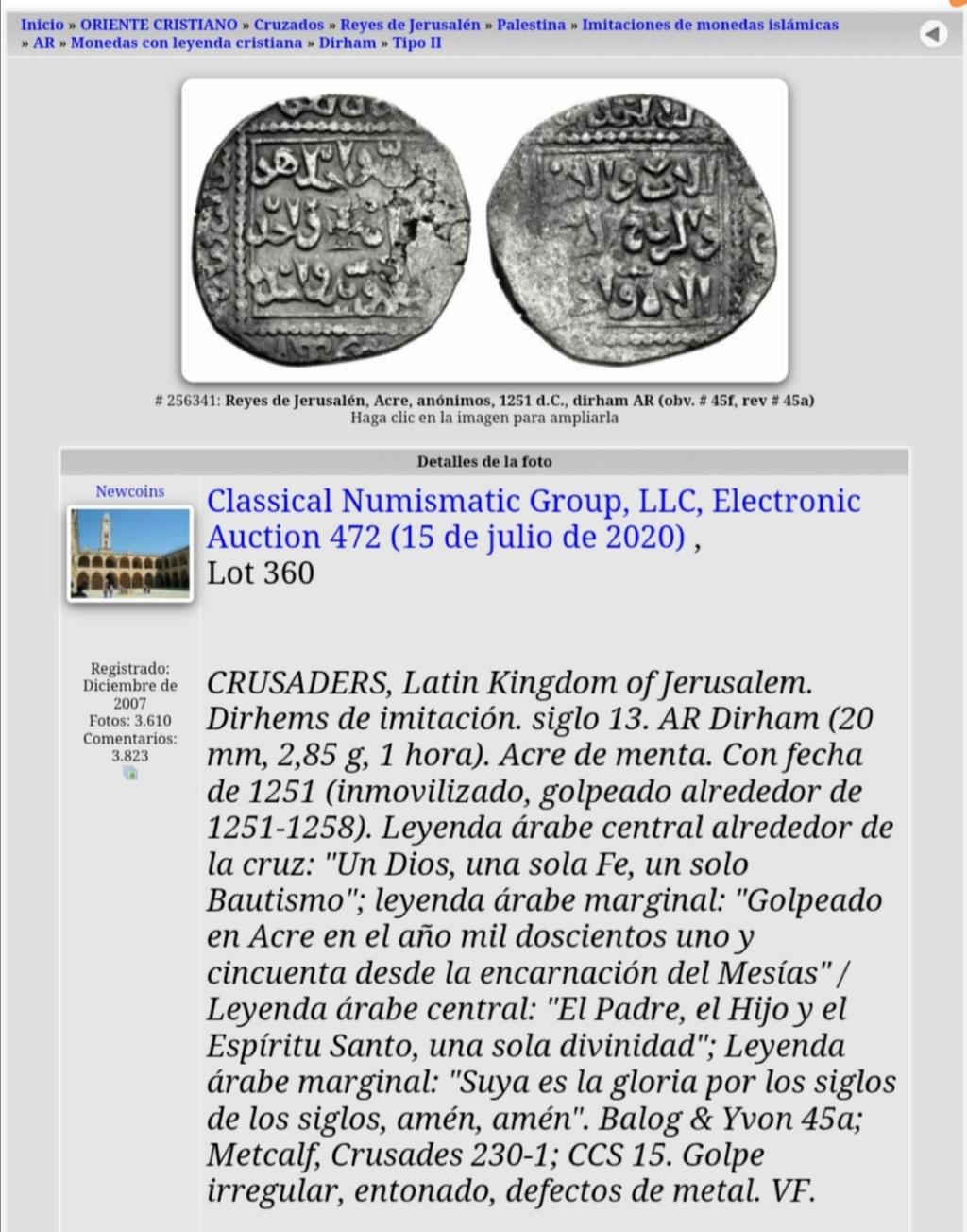Dirham al-Nasir Salah ad-Din Yusuf ibn  Ayyub (Saladino) - Damasco AH564-589  Screen16