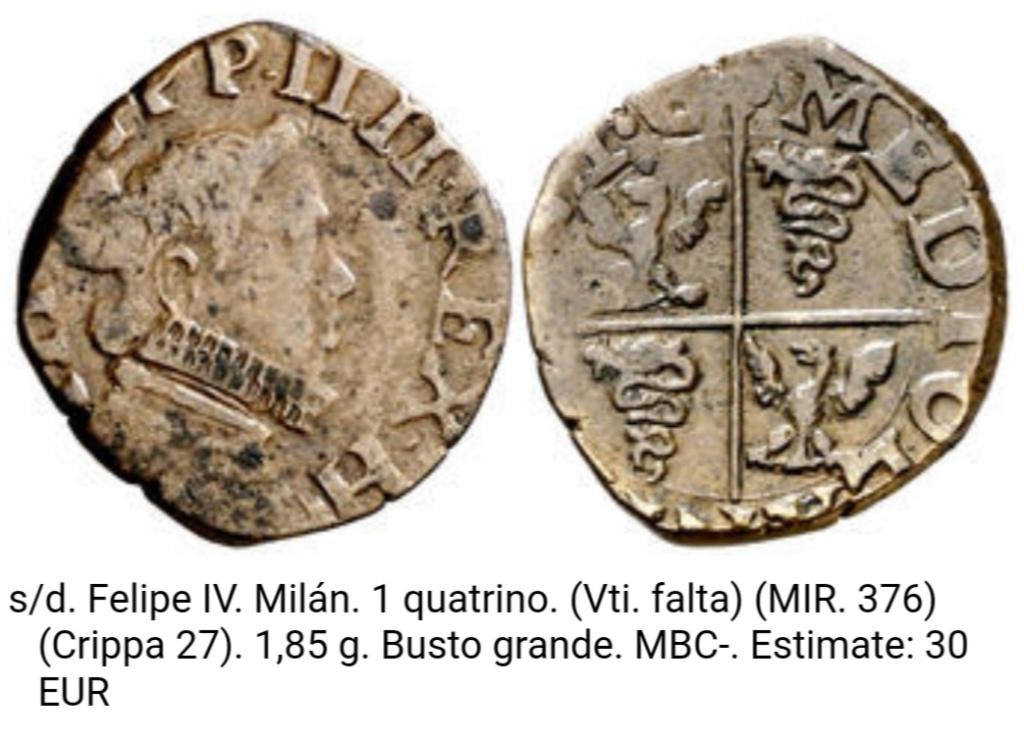 1 quatrino de Felipe III de Milán. Screen19