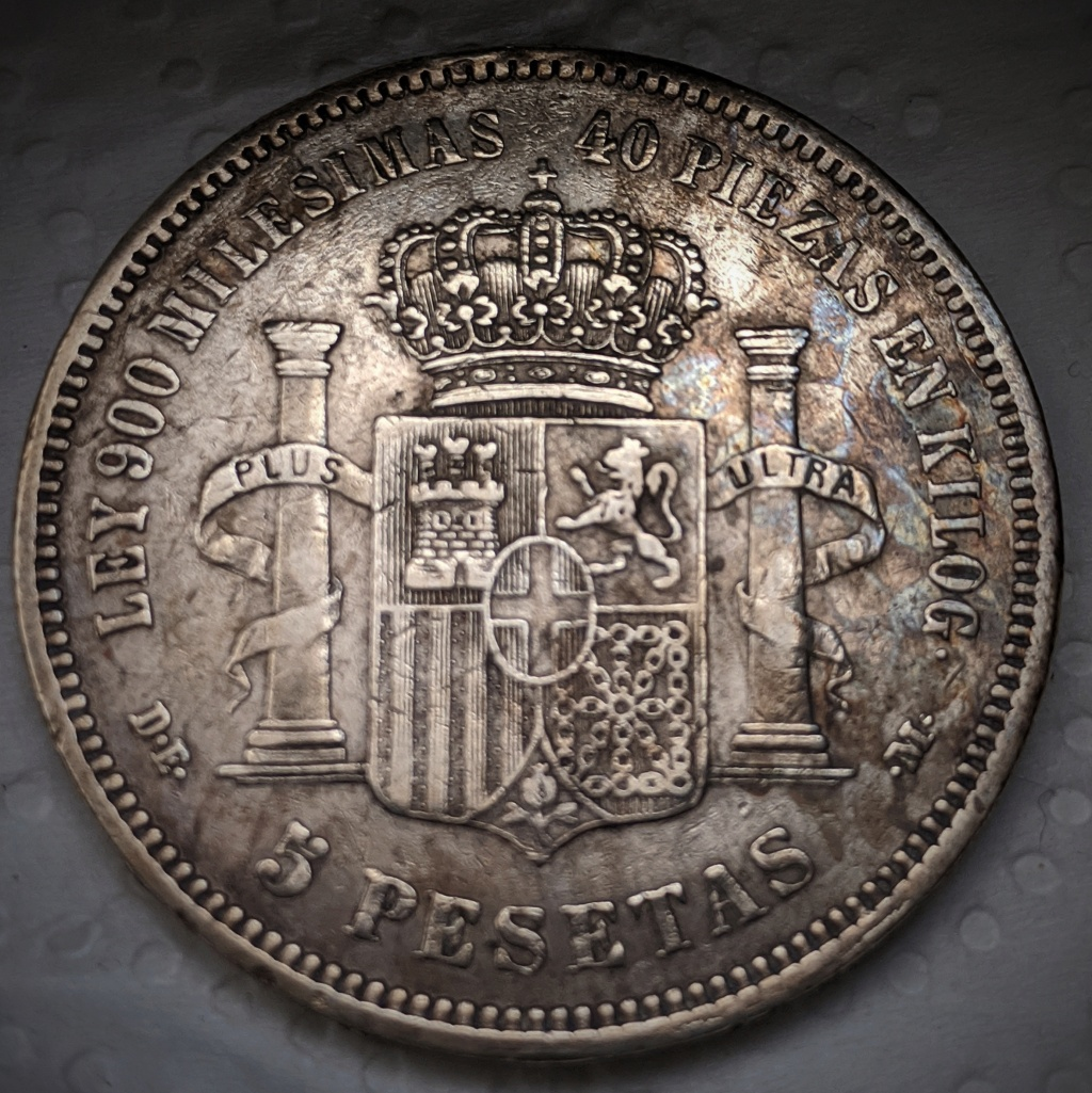 5 pesetas 1871 *74, Amadeo I Img_2034