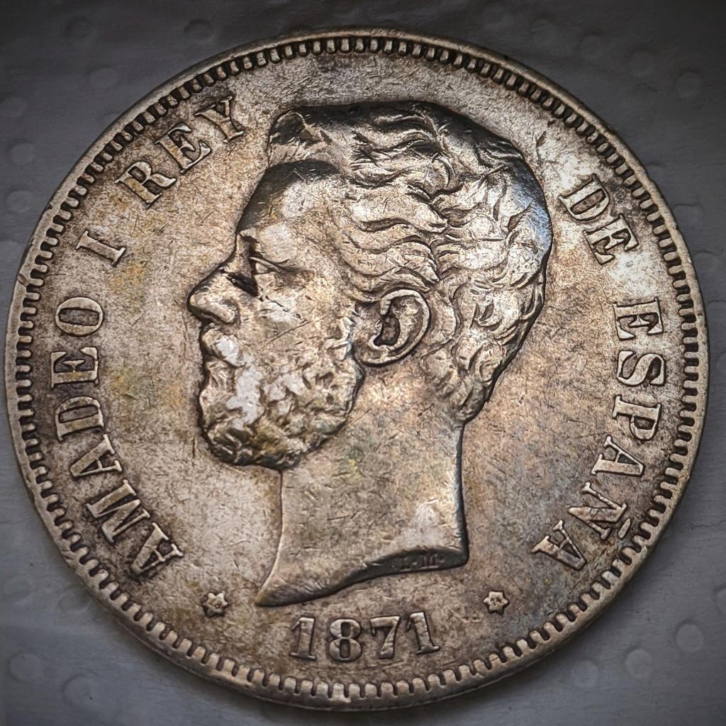 5 pesetas 1871 *74, Amadeo I Img_2035