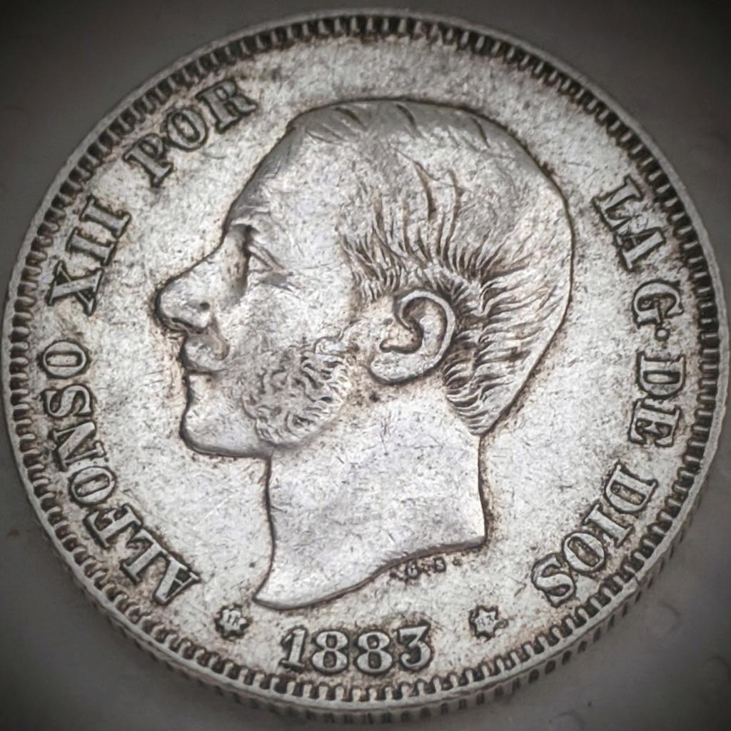 2 Pesetas 1883 MSM. Alfonso XII  Img_2058