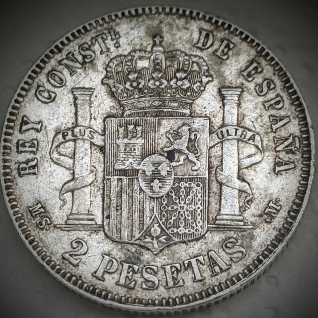 2 Pesetas 1883 MSM. Alfonso XII  Img_2059