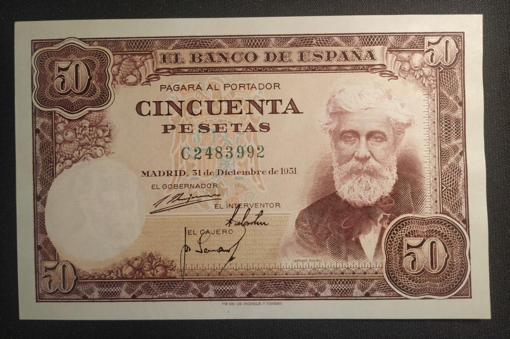 50 pesetas 1951 Santiago Rusiñol Img_2029