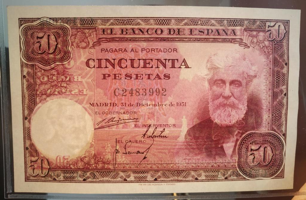 50 pesetas 1951 Santiago Rusiñol Img_2032