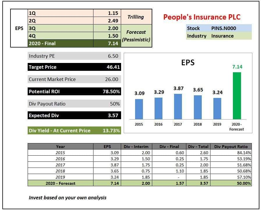 PEOPLE'S INSURANCE PLC  (PINS.N0000) 12116710