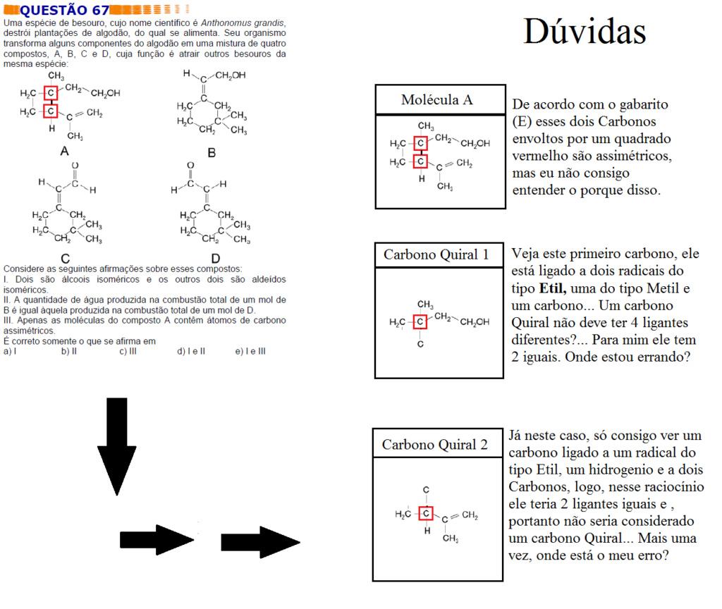 Identificando Carbonos Quirais ou Assimétricos Pergun12