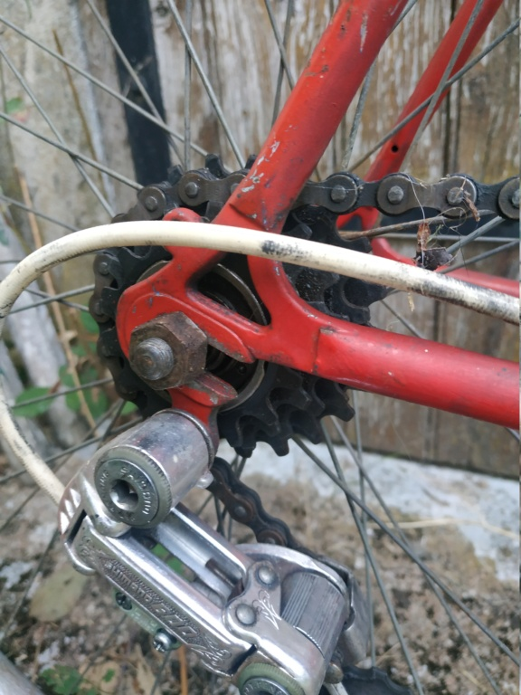 Vélo rouge , enfin repeind en rouge !  Img_2024