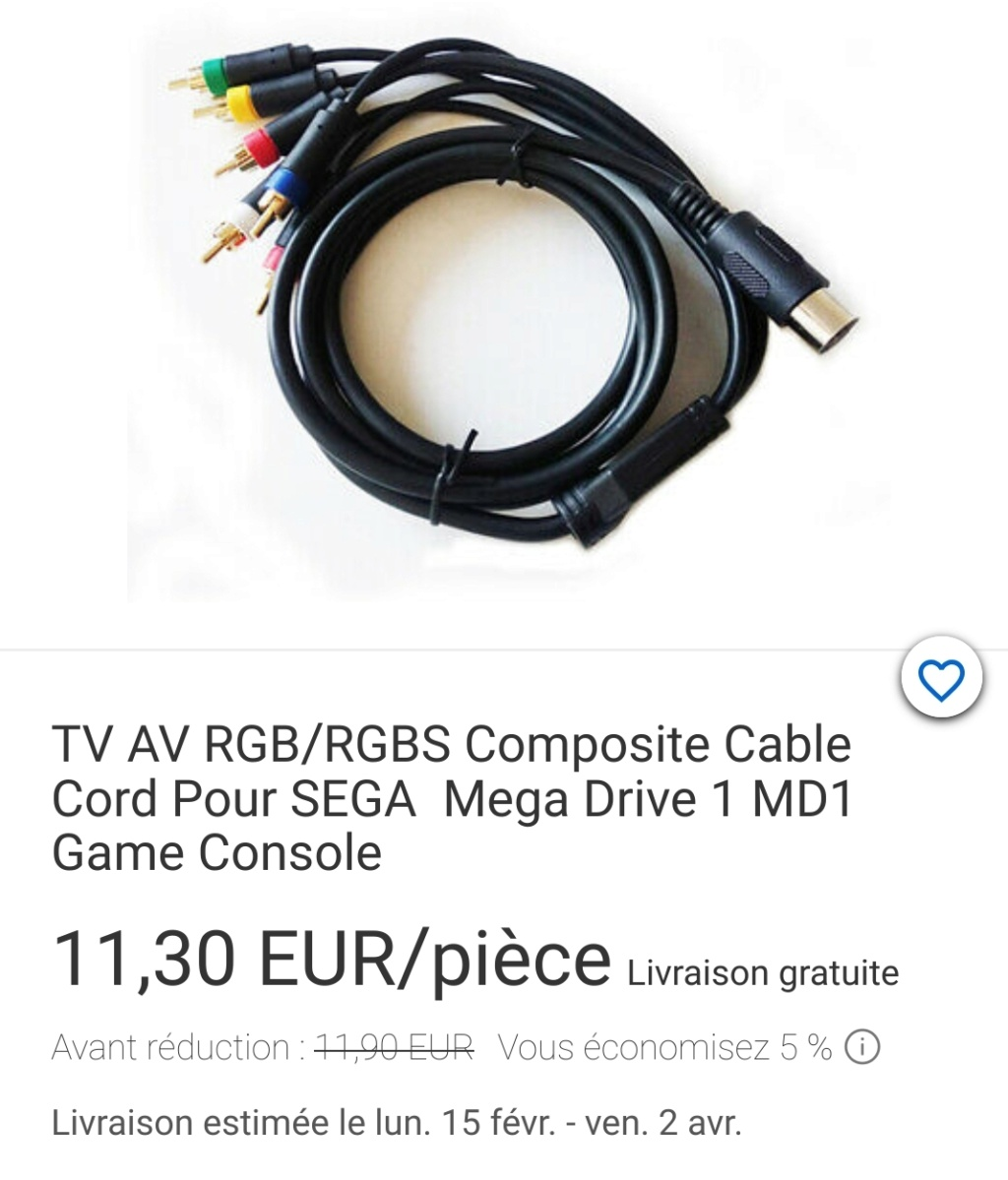 Cable Vidéo pour Megadrive 1 Screen10