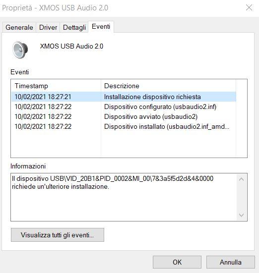 Driver per DAC USB PCM5102 XMOS 384K/32bit  Driver10