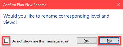 """Rename Corresponding level dialog box - When you run """"Create interanal' dynamo Image10"""