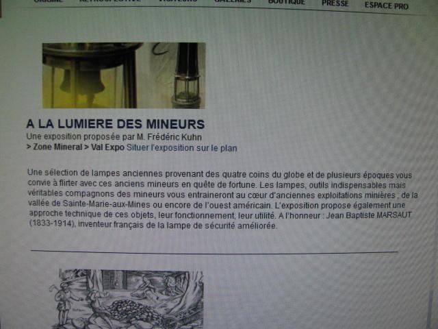 lampes de mineurs,  divers objets de mine, outils de mineur et documents  Img_4938