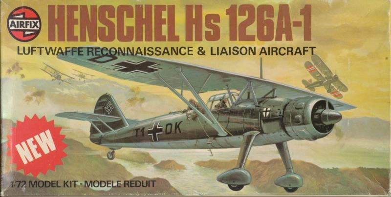Henschel Hs 126 A/B, Airfix, 1/72, 1977 Hs_12610