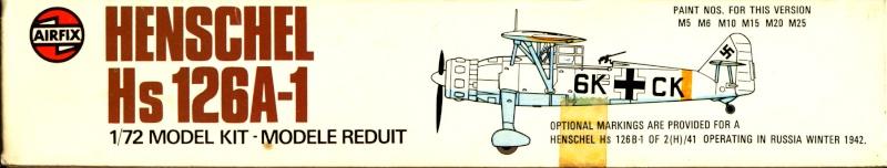 Henschel Hs 126 A/B, Airfix, 1/72, 1977 Hs_12611
