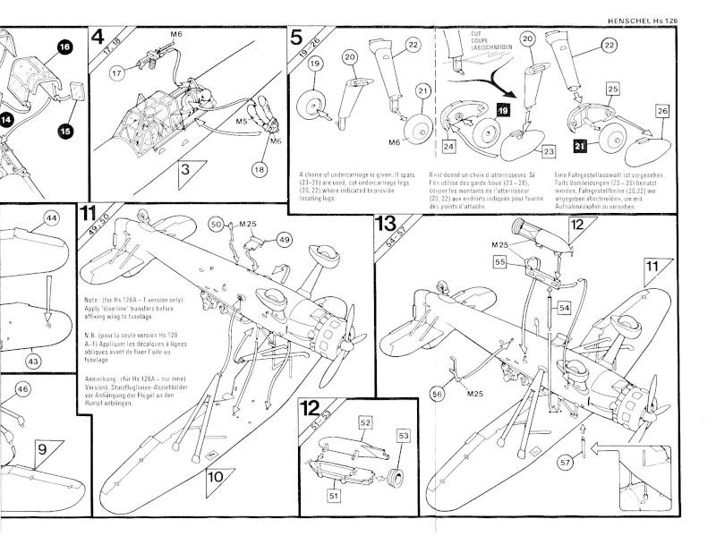 Henschel Hs 126 A/B, Airfix, 1/72, 1977 Hs_12619