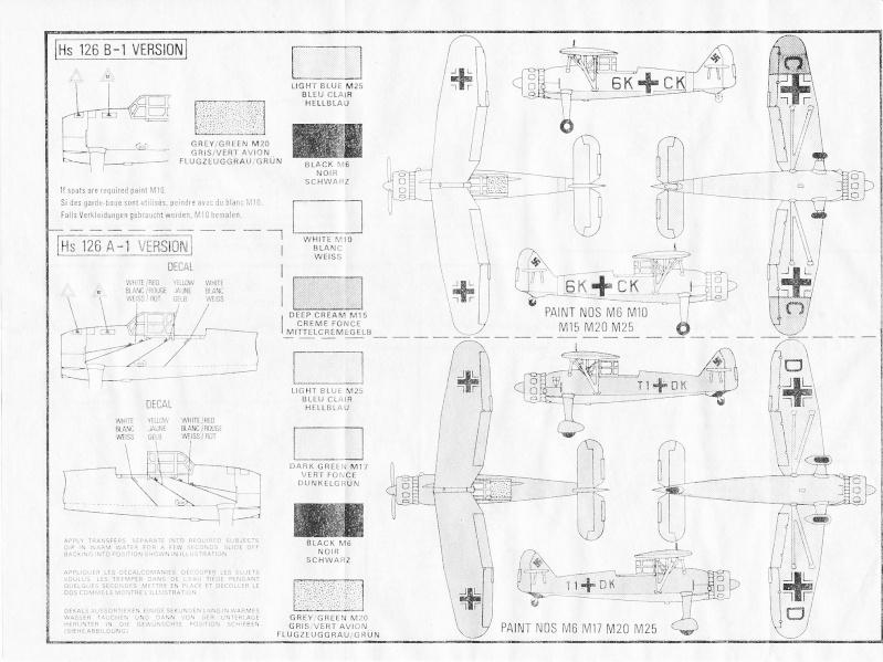 Henschel Hs 126 A/B, Airfix, 1/72, 1977 Hs_12620
