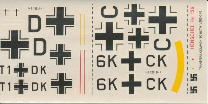 Henschel Hs 126 A/B, Airfix, 1/72, 1977 Hs_12621