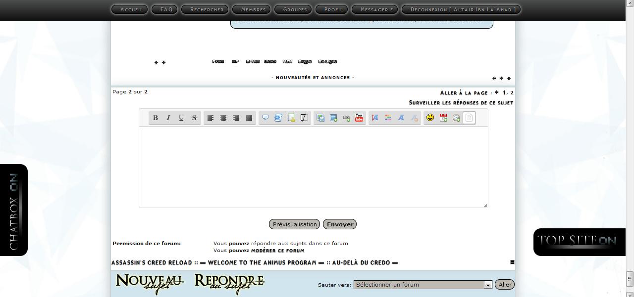 Nouvel éditeur de Message de ForumActif Tuto110