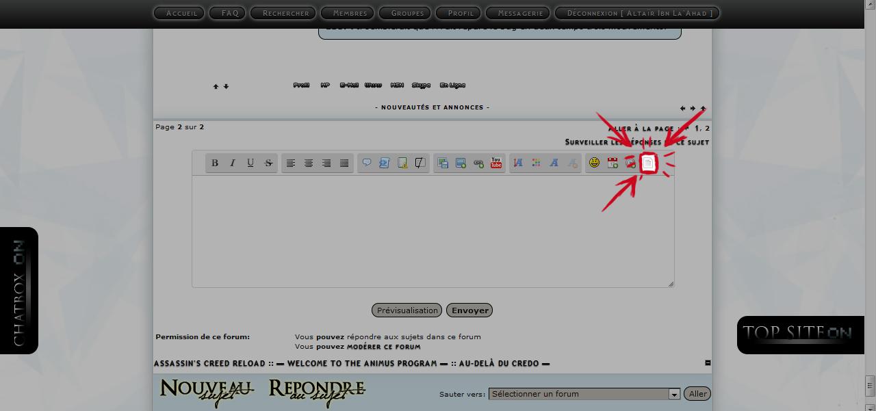 Nouvel éditeur de Message de ForumActif Tuto210