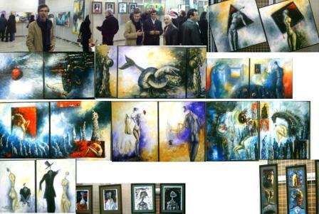 برعاية جمعية اصدقاء سلمية الفنان قصي عيزوق يفتتح معرضه Ousouu10