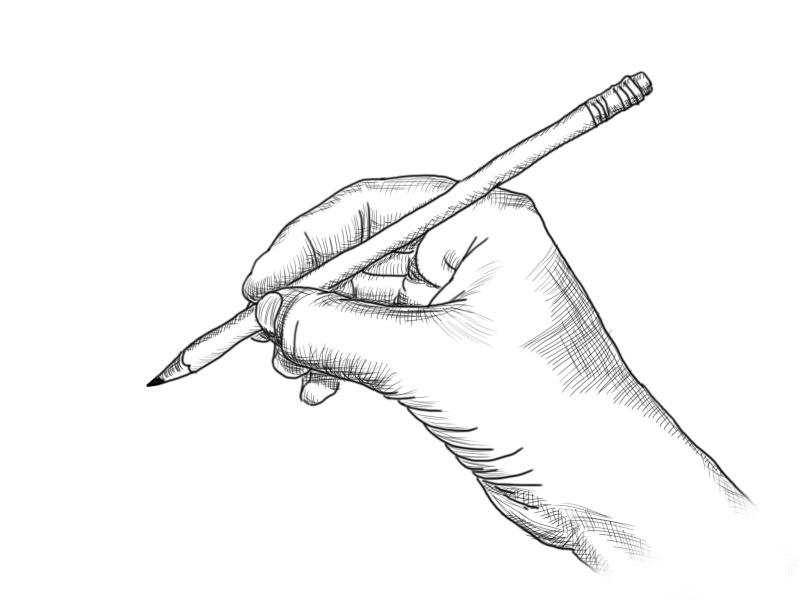 [Dessin] Comment tenir le crayon Main110
