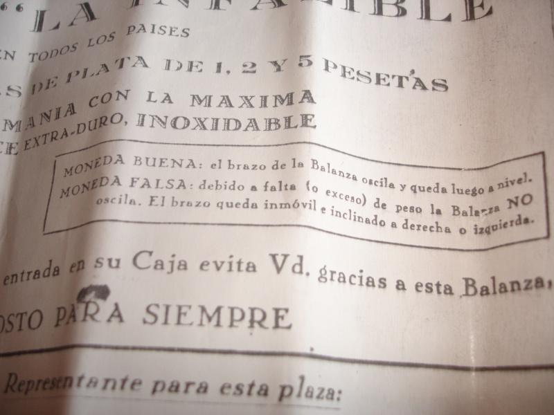"Mi nueva balanza ""La infalible"" del siglo XIX Dsc06519"
