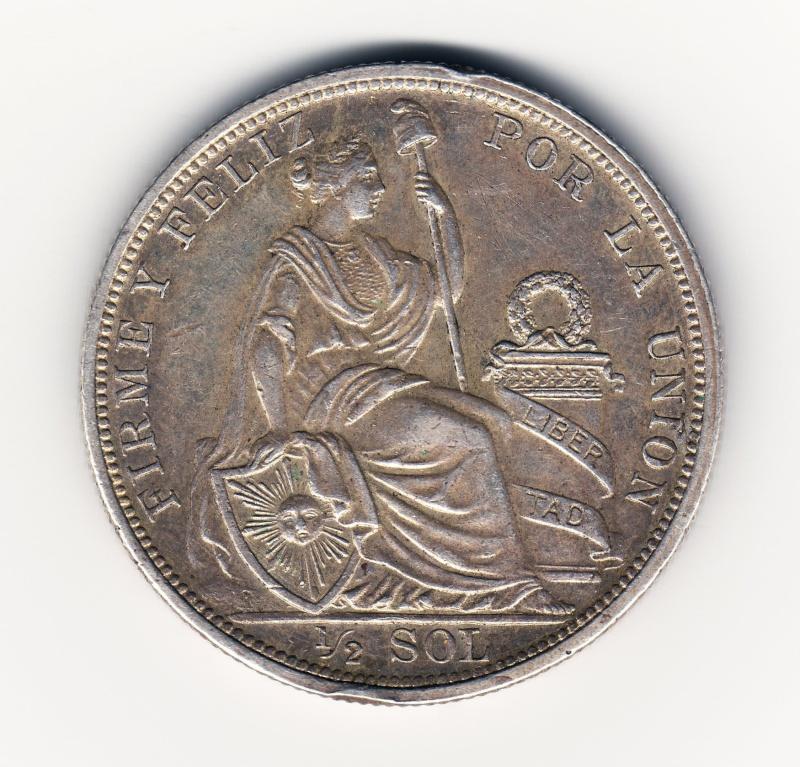 1/2 Sol. Peru. 1915. Lima Img64711