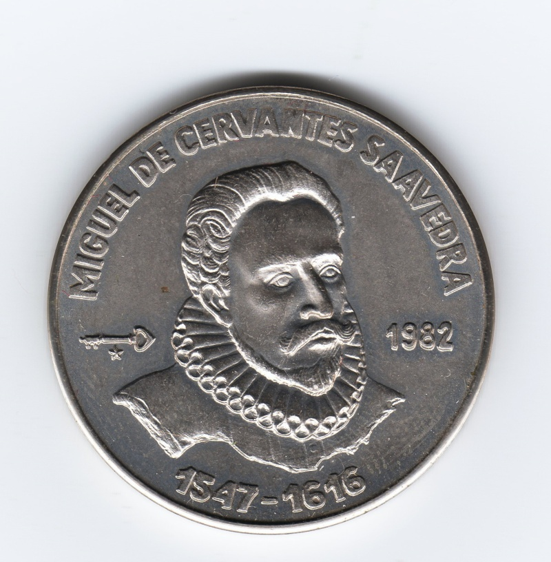 1 Peso (Miguel De Cervantes). Cuba. 1982. La Habana Img65010