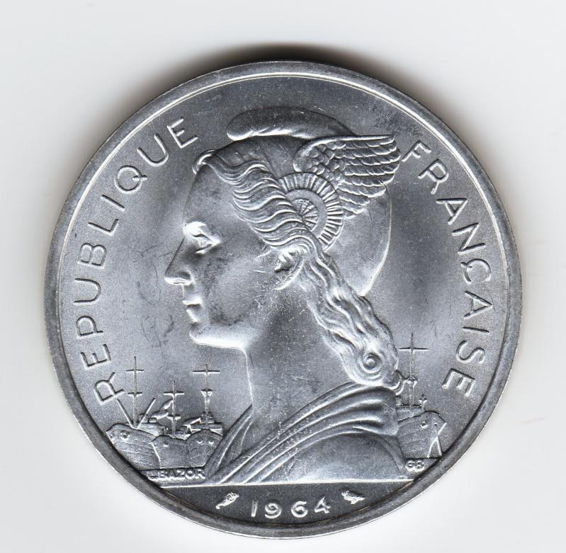 5 Francs. Islas Comoras. 1964. París Img68110