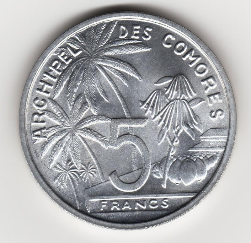 5 Francs. Islas Comoras. 1964. París Img68310