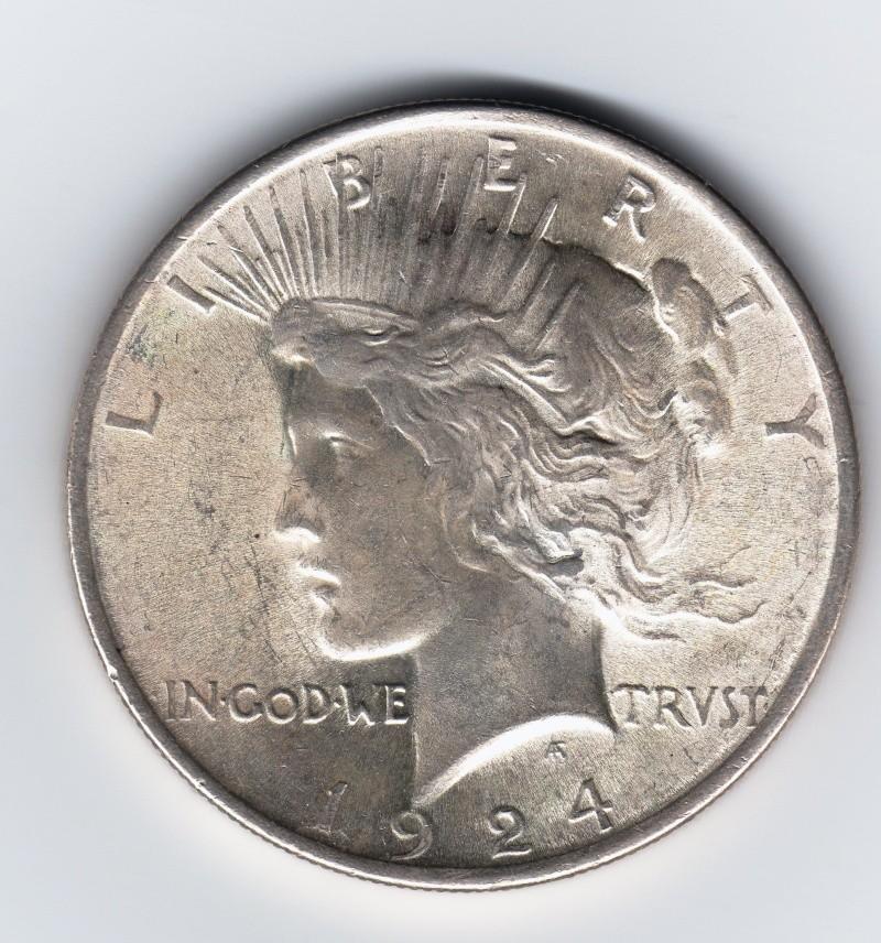 """1 Dollar """"La Paz"""". U.S.A. 1924. Philadelphia Img70010"""