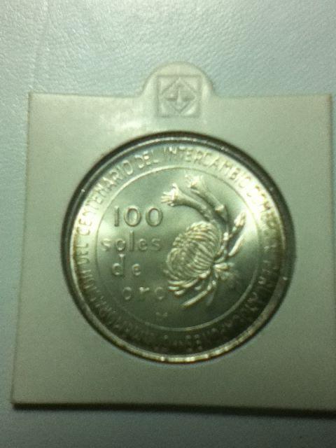 100 Soles de Oro (Intercambio Peru-Japón). Perú. 1973 T7x610