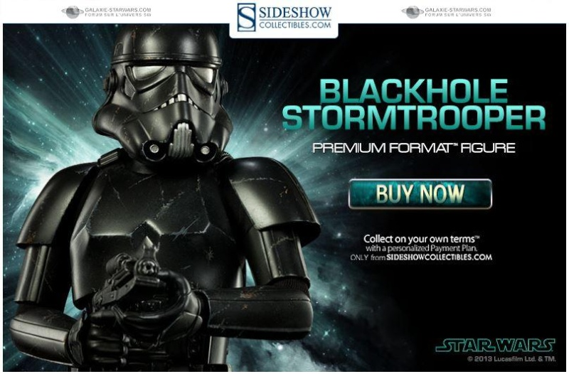 Sideshow - Blackhole Stormtrooper Premium Format Figure Black_12