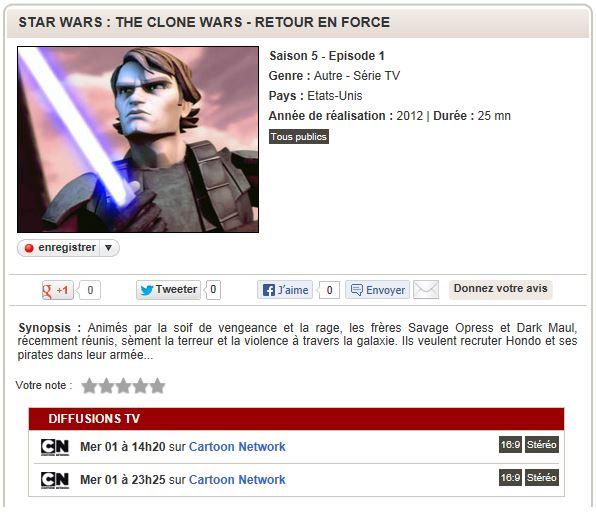 CLONE WARS - TOUT SUR LES DIFFUSIONS TV ! - Page 9 Tvs0510